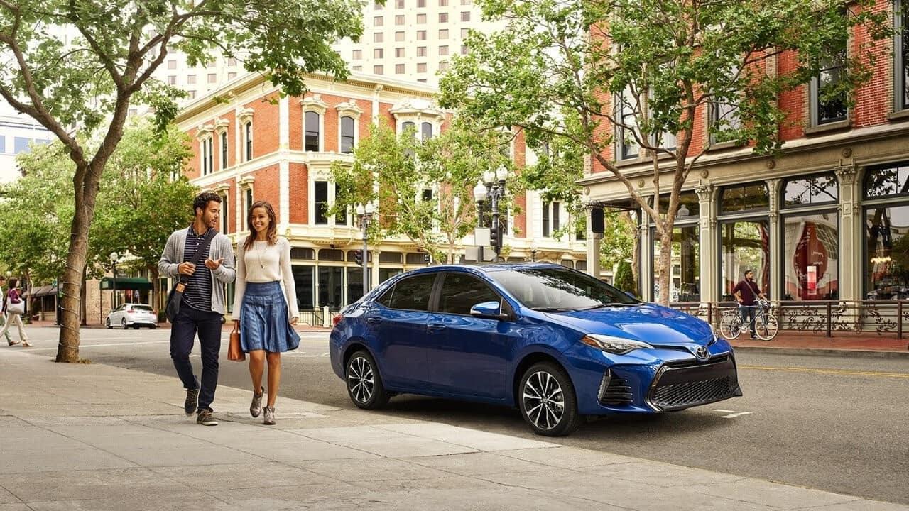 Blue Toyota Corolla