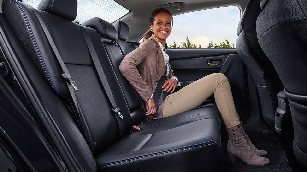 Toyota Corolla Rear seat space
