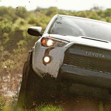 2018 Toyota 4Runner driving through mud