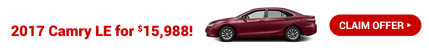 Purchase a CPO 2017 Camry for $15,988!