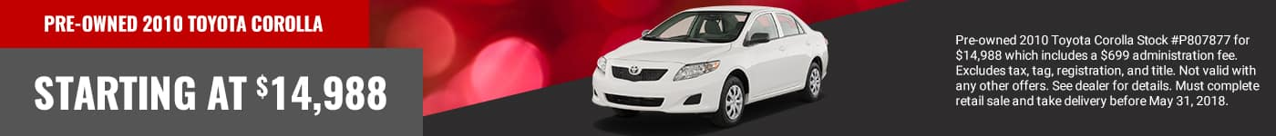 beaver toyota of cumming pre owned corolla