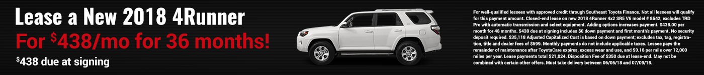 beaver toyota of cumming 4runner lease