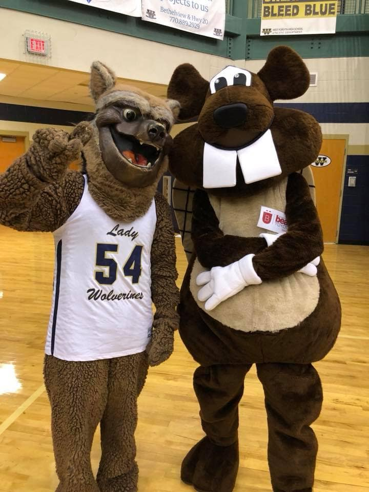 Bucky with Mascot