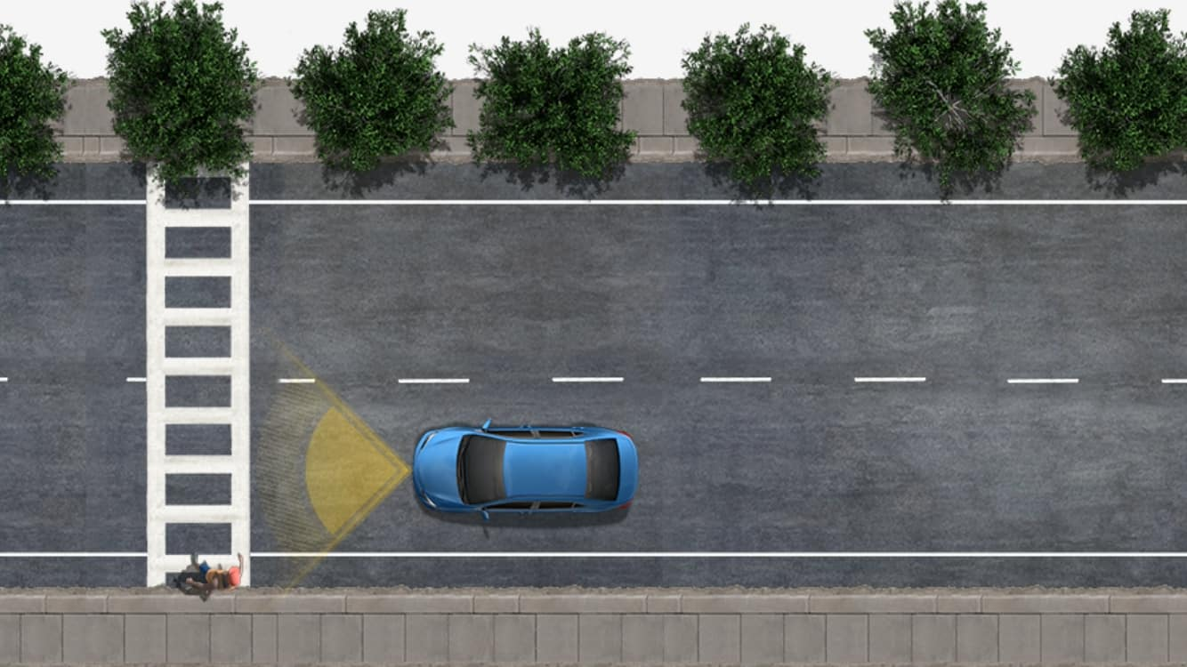 Pre-Collision System with Pedestrian Detection