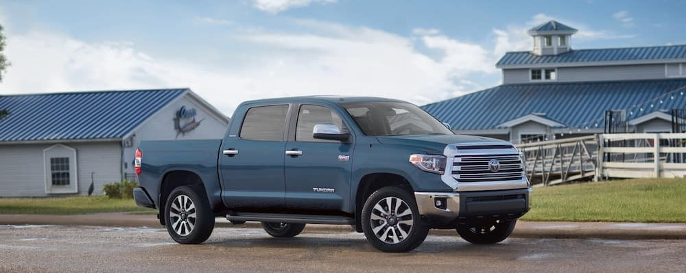 2019 Toyota Tundra in front of a farm