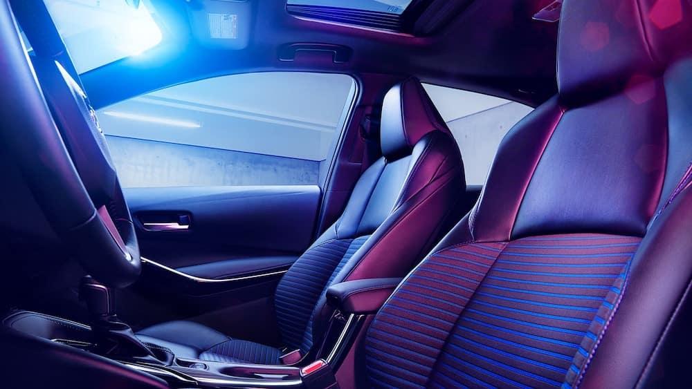 2020 Toyota Corolla interior rear seating