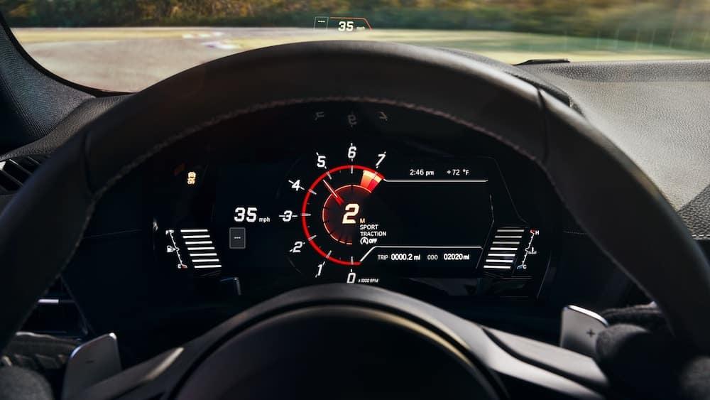 2020 Toyota Supra instrument cluster