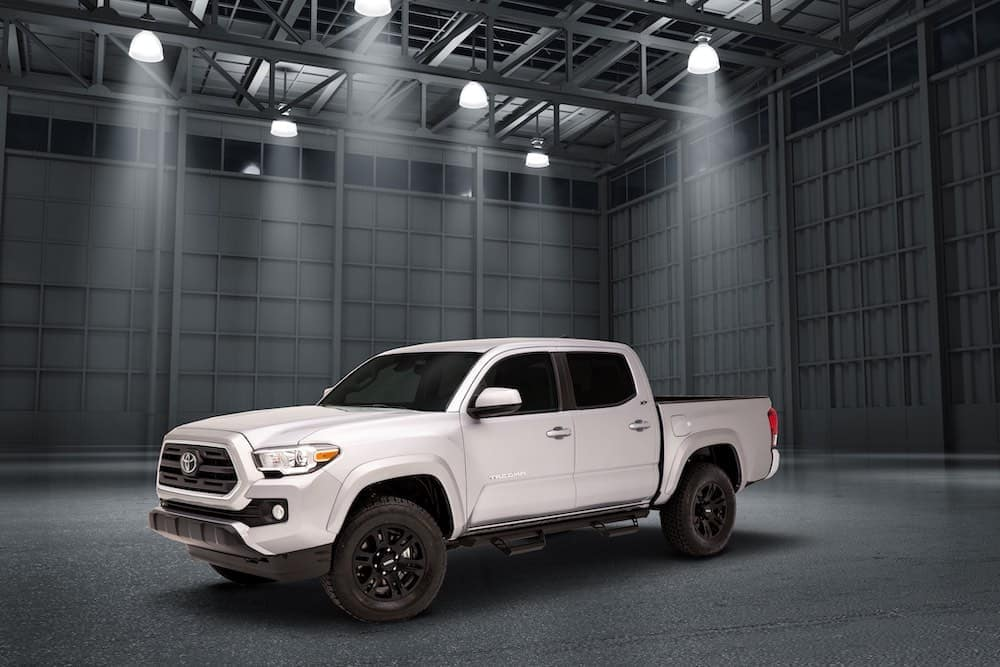 Toyota Tacoma XP Maverick in warehouse