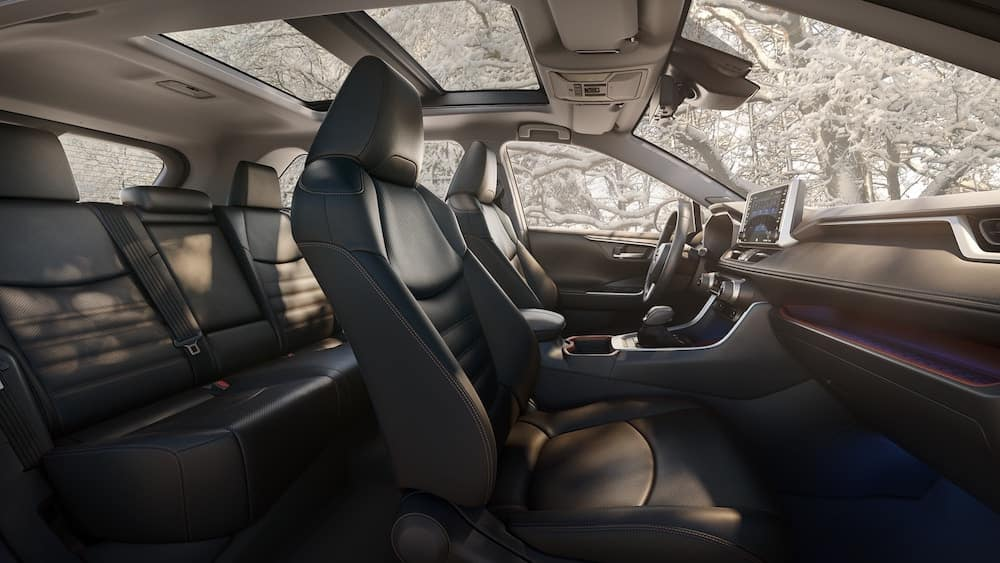 2019 Toyota RAV4 interior with upgraded seats