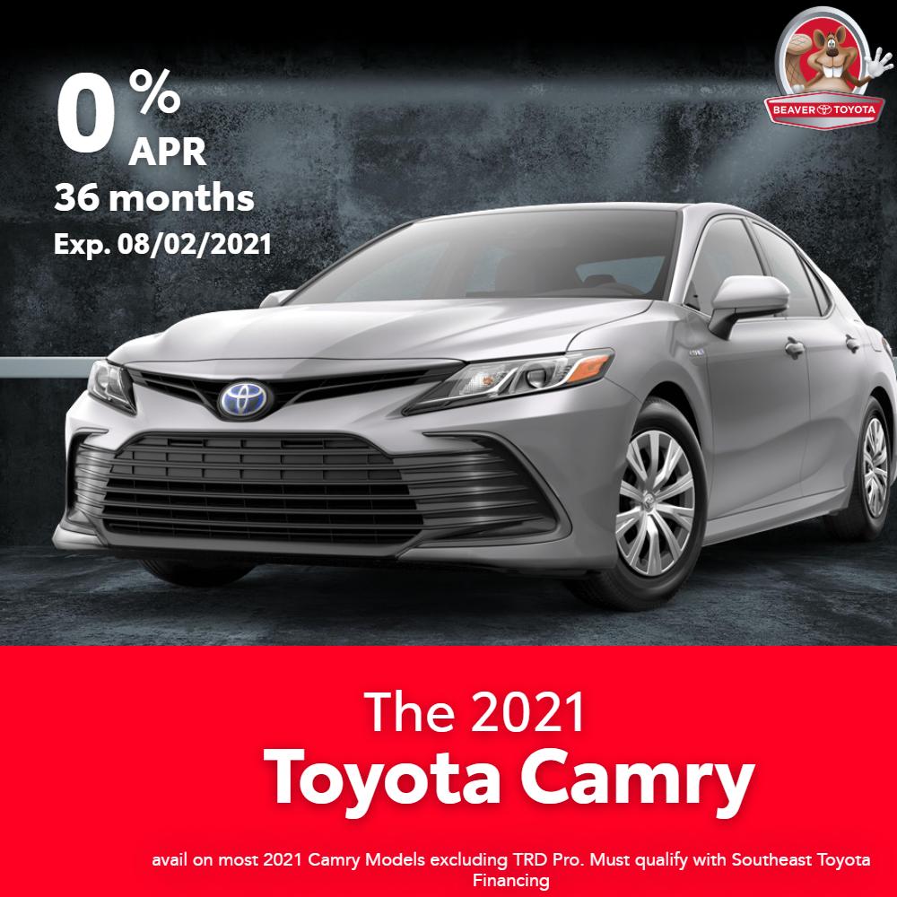 2021 Camry Finance Offer