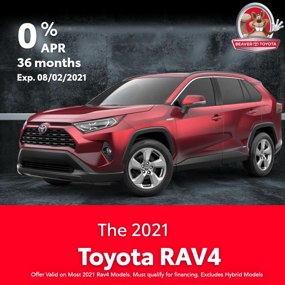 New 2021 RAV4 Finance Offer