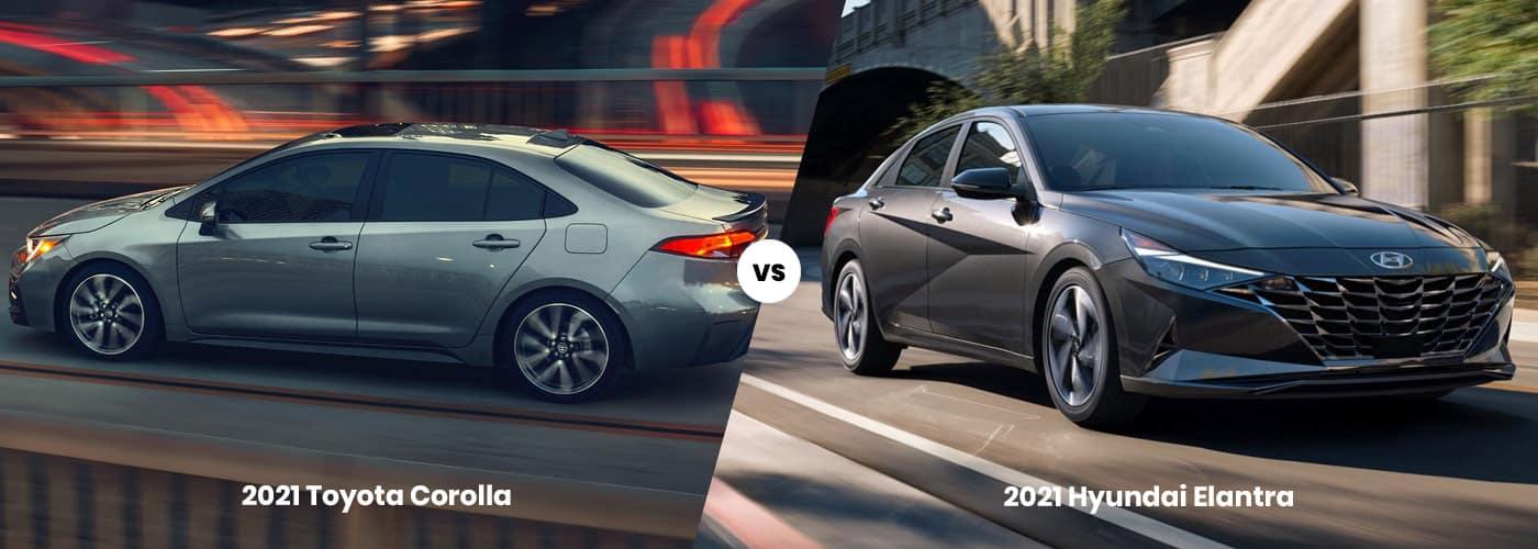 2021 Toyota Corolla vs 2021 Hyundai Elantra Comparison
