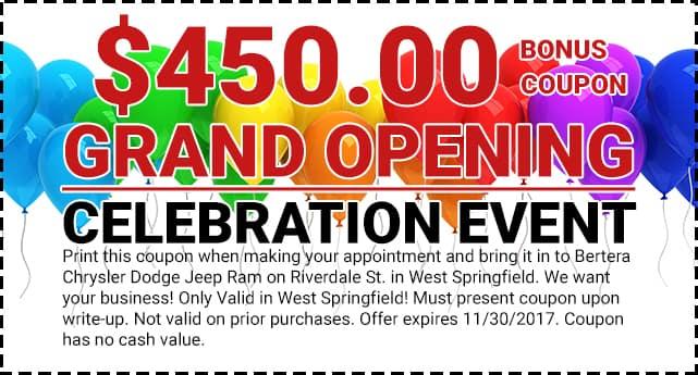 Claim my Grand Opening Coupon   Bertera Chrysler Jeep ...