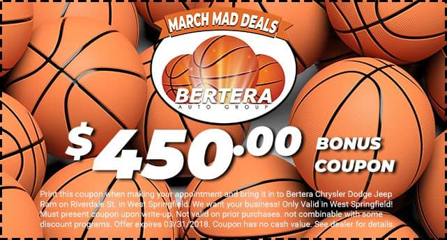 Bertera Jeep West Springfield Service >> March Mad Deals Clearance│Coupon Offer! | Bertera Chrysler Jeep Dodge Ram and Fiat of West ...