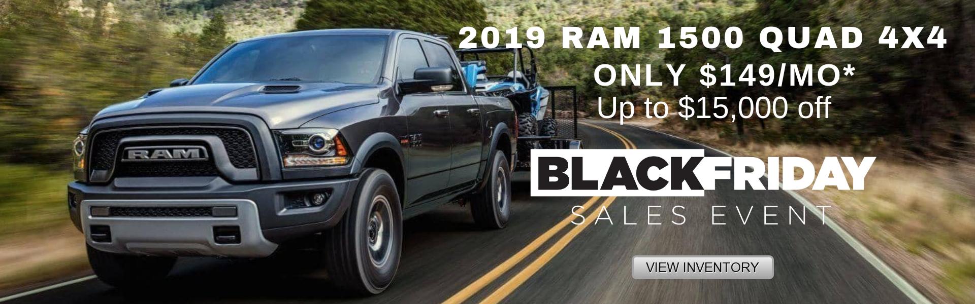 2019 RAM 1500 QUAD 4X4