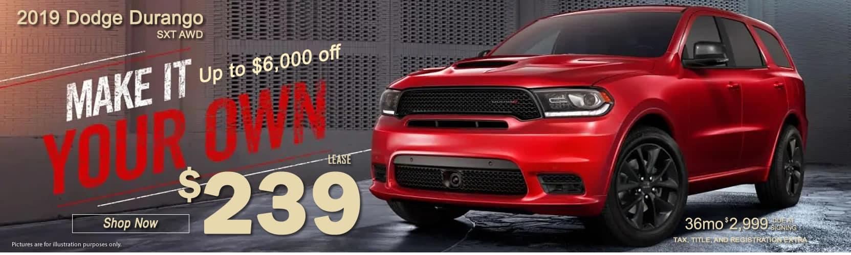 2019-Dodge-Durango SXT-AWD