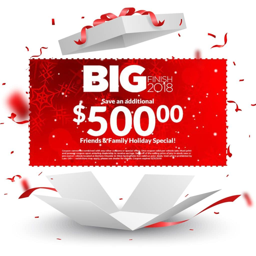 Big Finish 2018 $500 Friends And Family Holiday Special