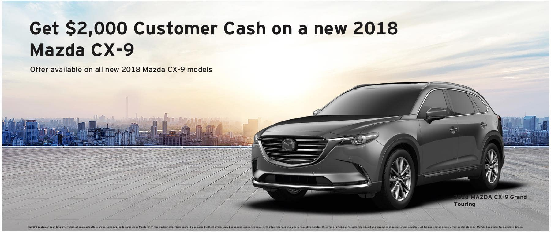 CX9 March Offer