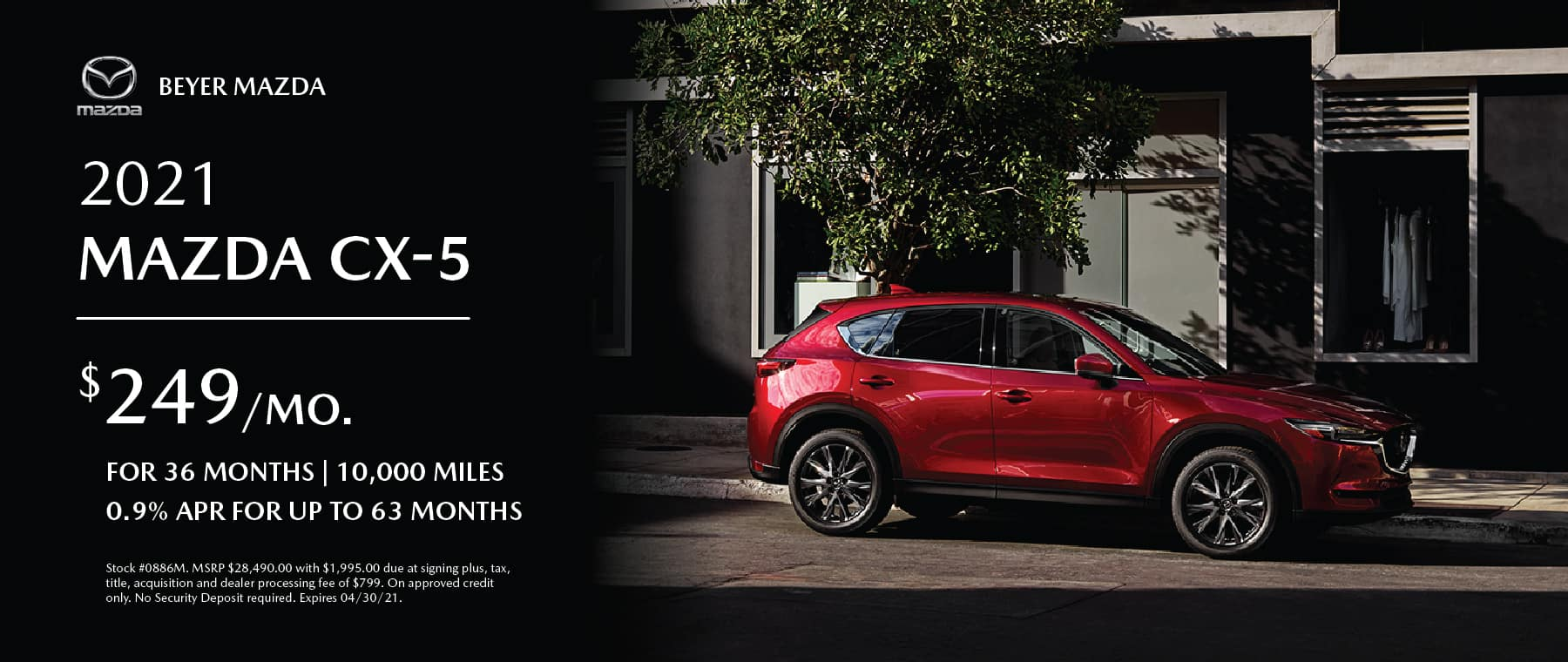 Beyer Mazda_Apr2021-Lease Special-CX5_Banner 1800×760