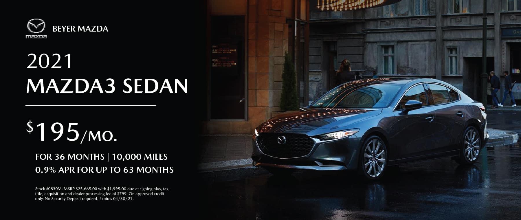 Beyer Mazda_Apr2021-Lease Special-Mazda3Sedan_Banner 1800×760