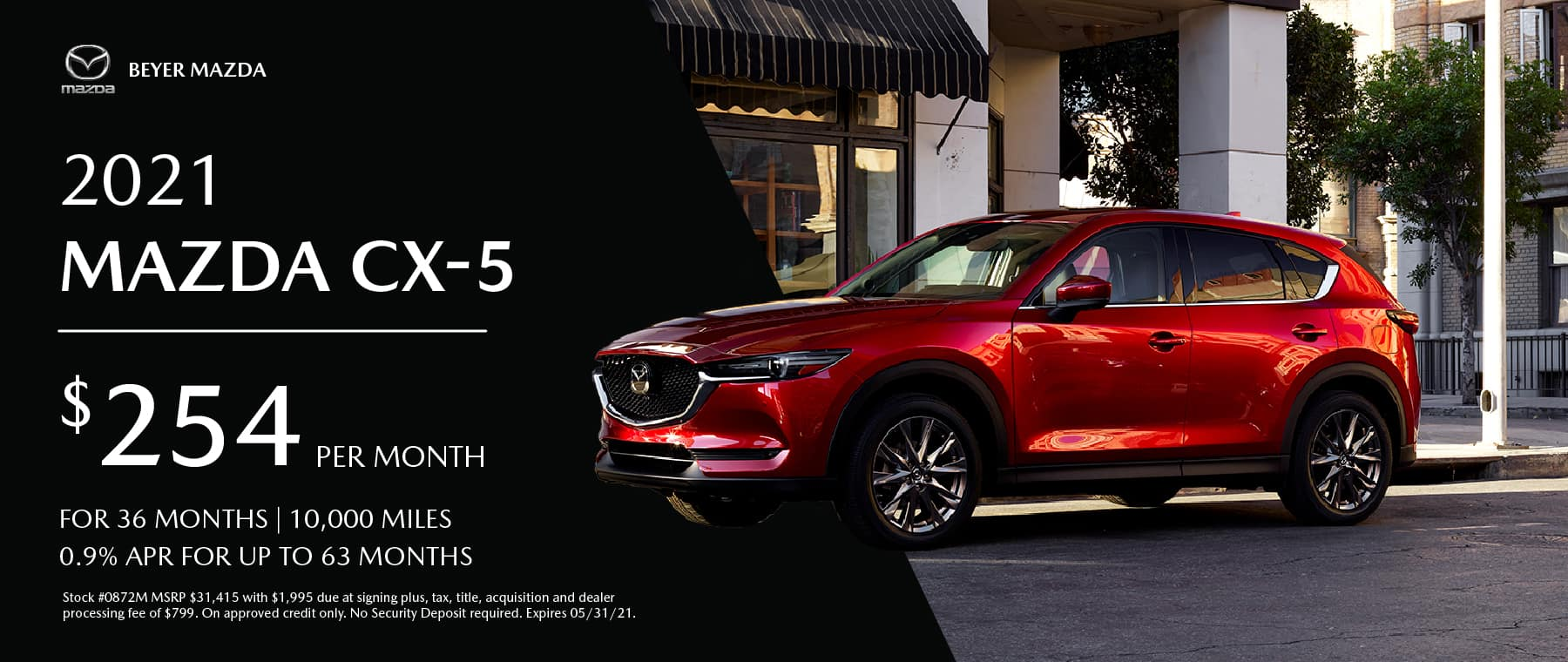 Beyer Mazda_May2021-Lease Special-CX5_Banner 1800×760