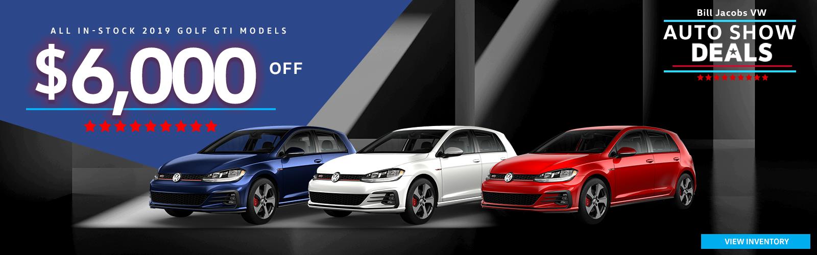 $6,000 off all-in-stock 2019 Volkswagen GTI