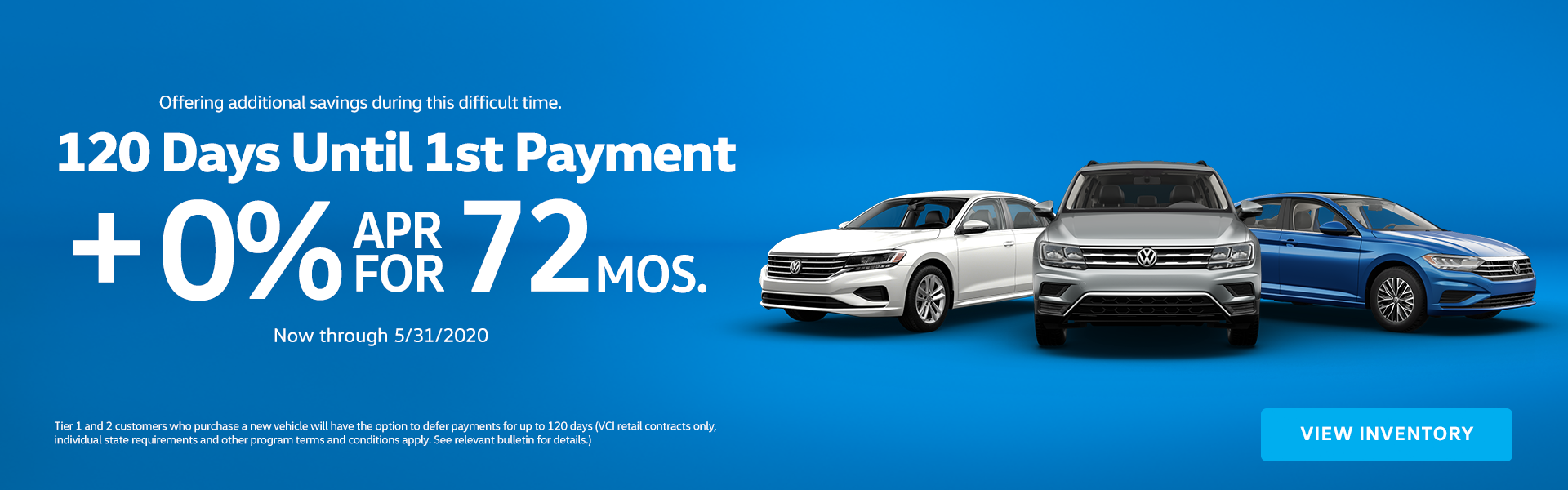 120 Days no Payment and 0% APR for 72 Months