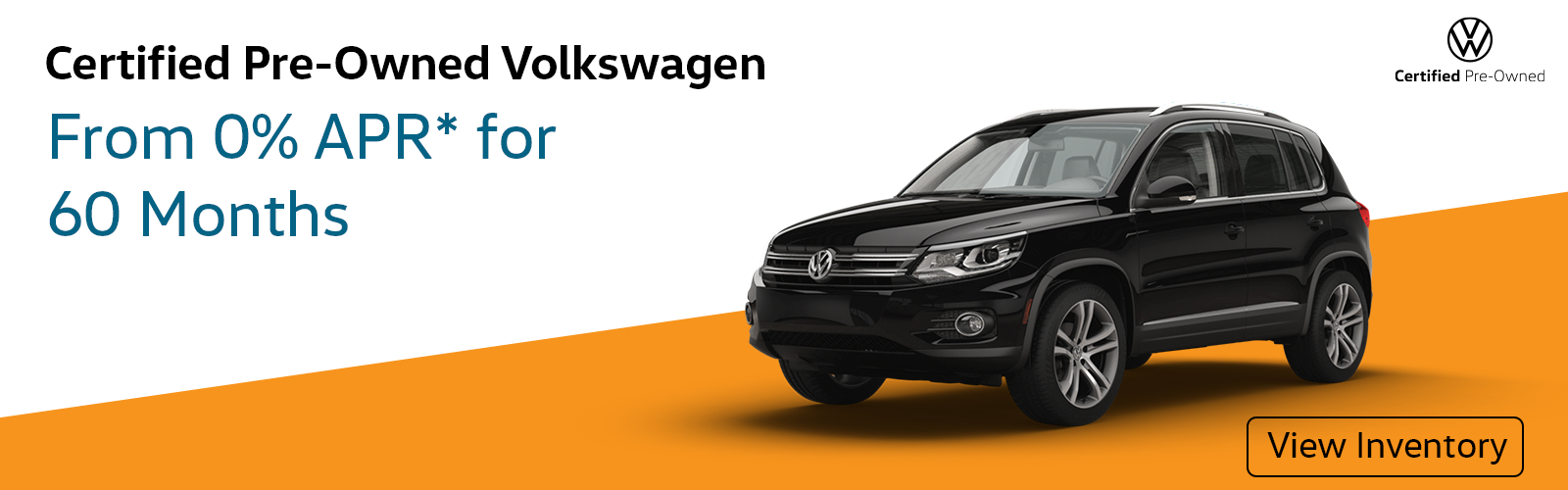 0% APR for 60 Months on VW CPO