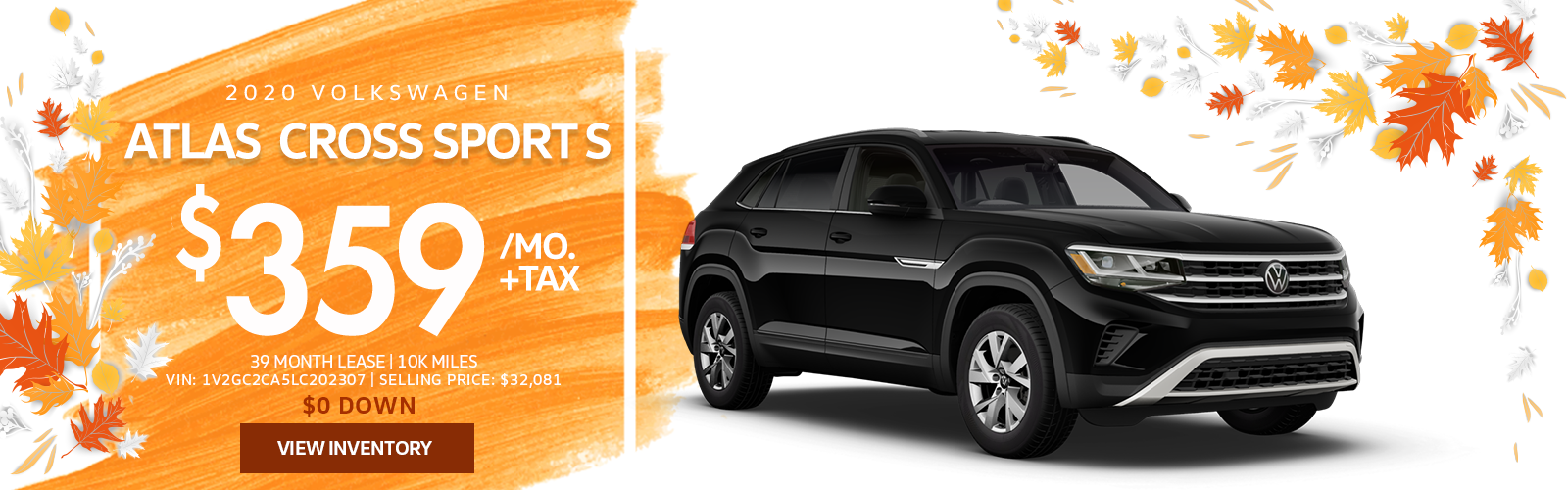 Lease a 2020 Atlas Cross Sport for $359/mo.