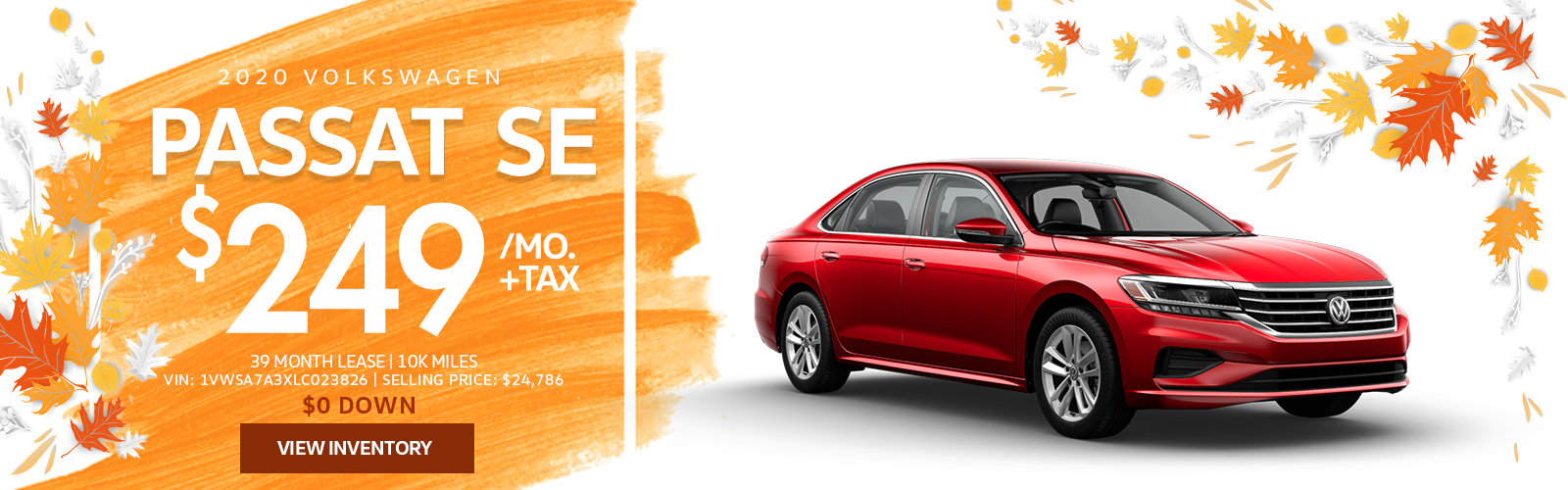 Lease a 2020 Passat SE for $249/mo.