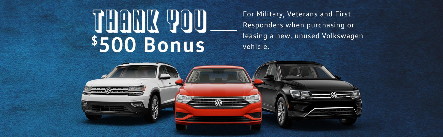 First Responders Volkswagen Bonus