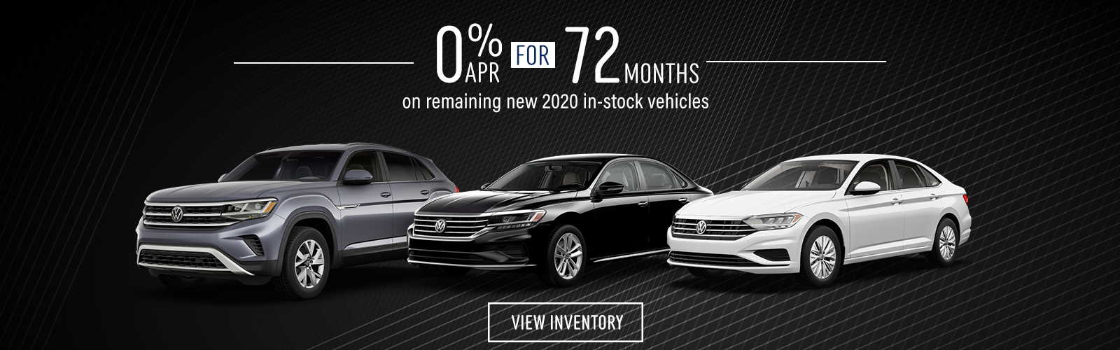 0% APR for 72 months on remaining 2020 vehicles