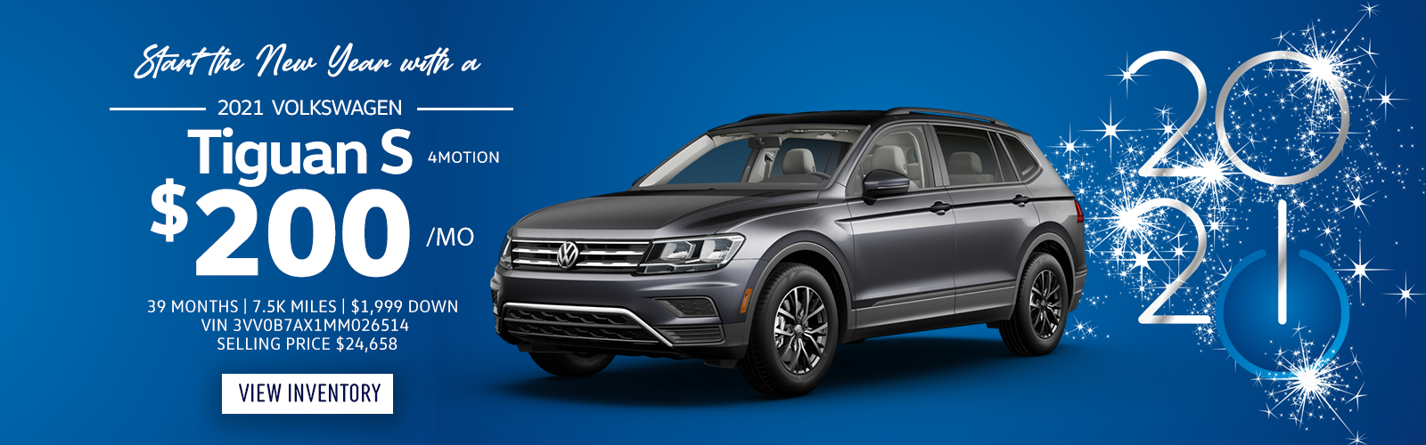 Lease a 2021 Tiguan S 4Motion