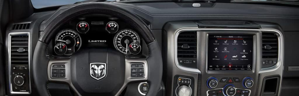 2018 Ram 1500 Front Interior UConnect