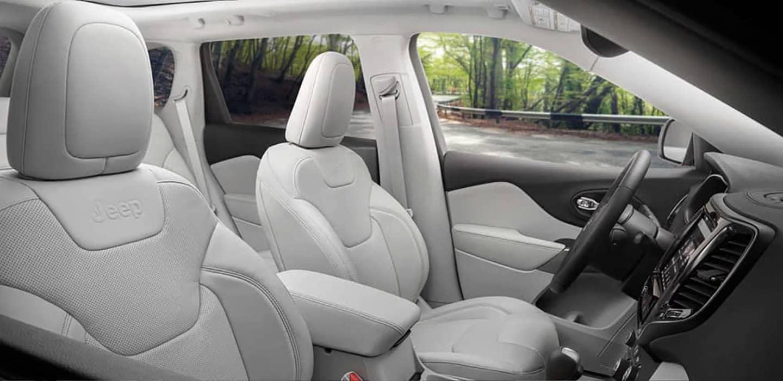2019 Jeep Cherokee white interior