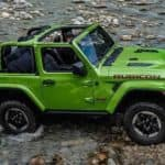2019 Jeep Wrangler crossing shallow water