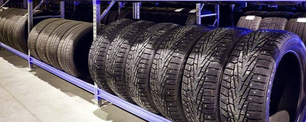 Tires in a row