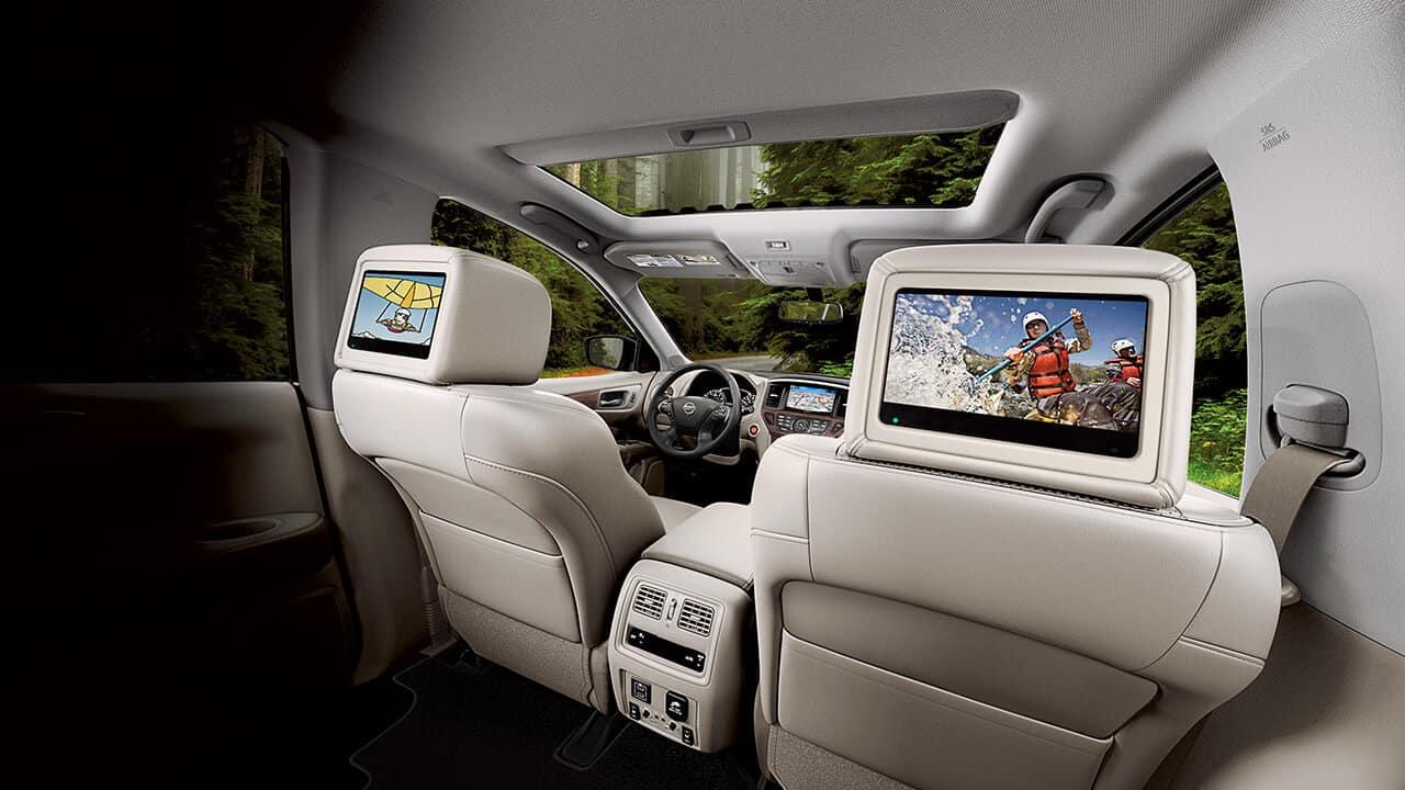 2018 Nissan Pathfinder rear entertainment system
