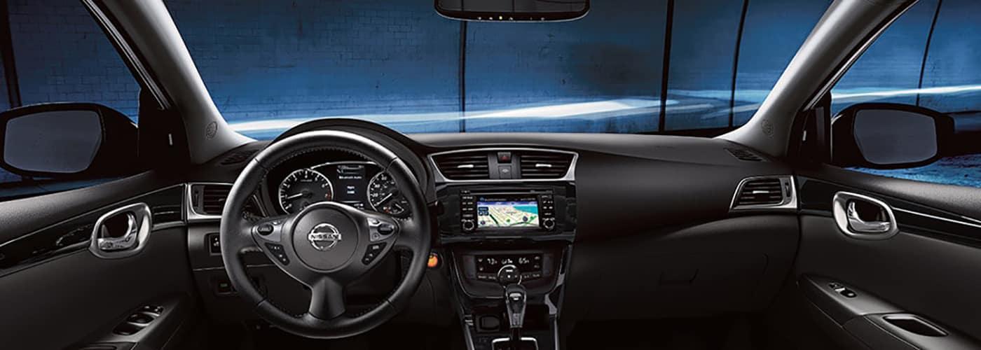 2018 Nissan Sentra interior cobalt