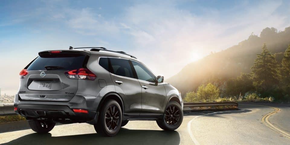 2018 Nissan Rogue Midnight Edition on road