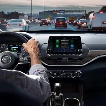 2019 Nissan Altima interior driving on street
