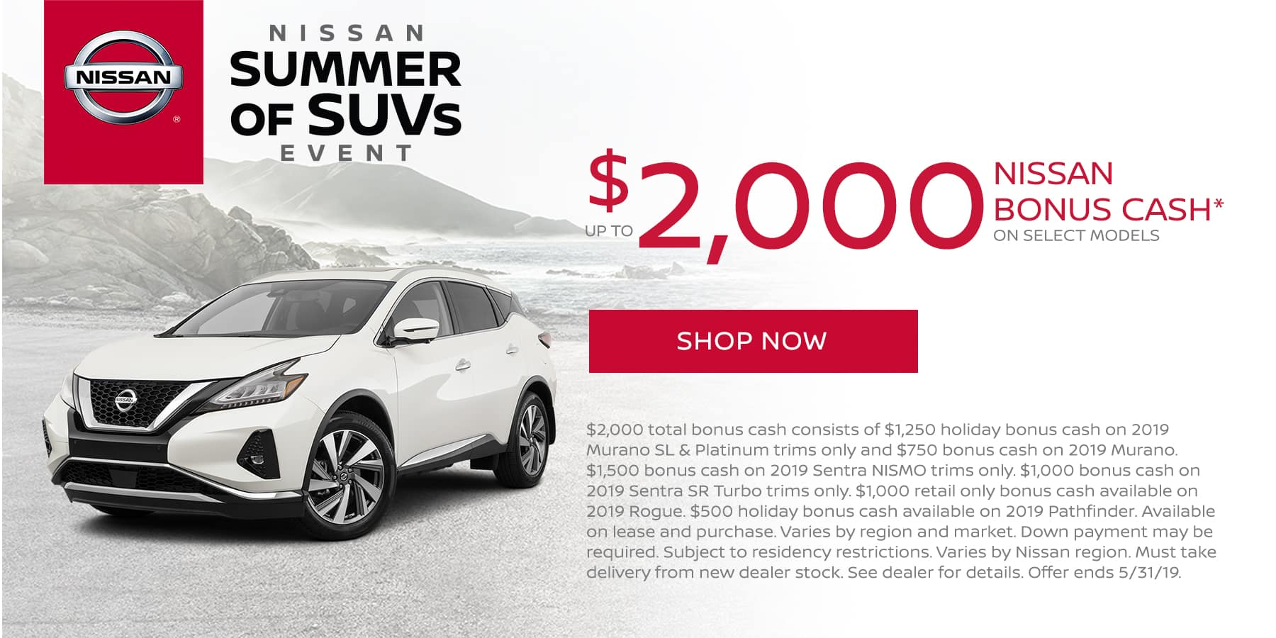 Up to $2,000 Nissan Bonus Cash