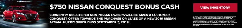 $750 Nissan Conquest Bonus Cash