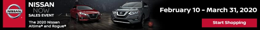 Nissan NOW Sales Event - February 10 - March 31, 2020