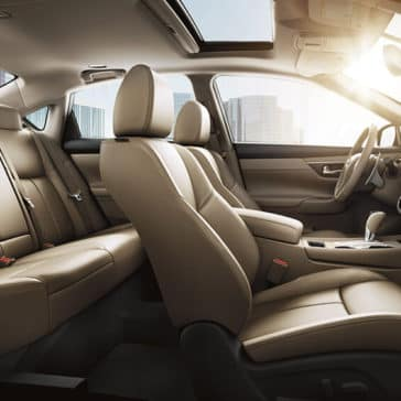 2018 Nissan Altima sedan interior seating beige leather original