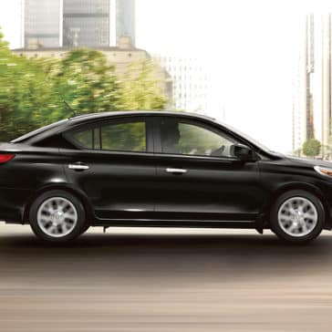 Black 2018 Nissan Versa side view