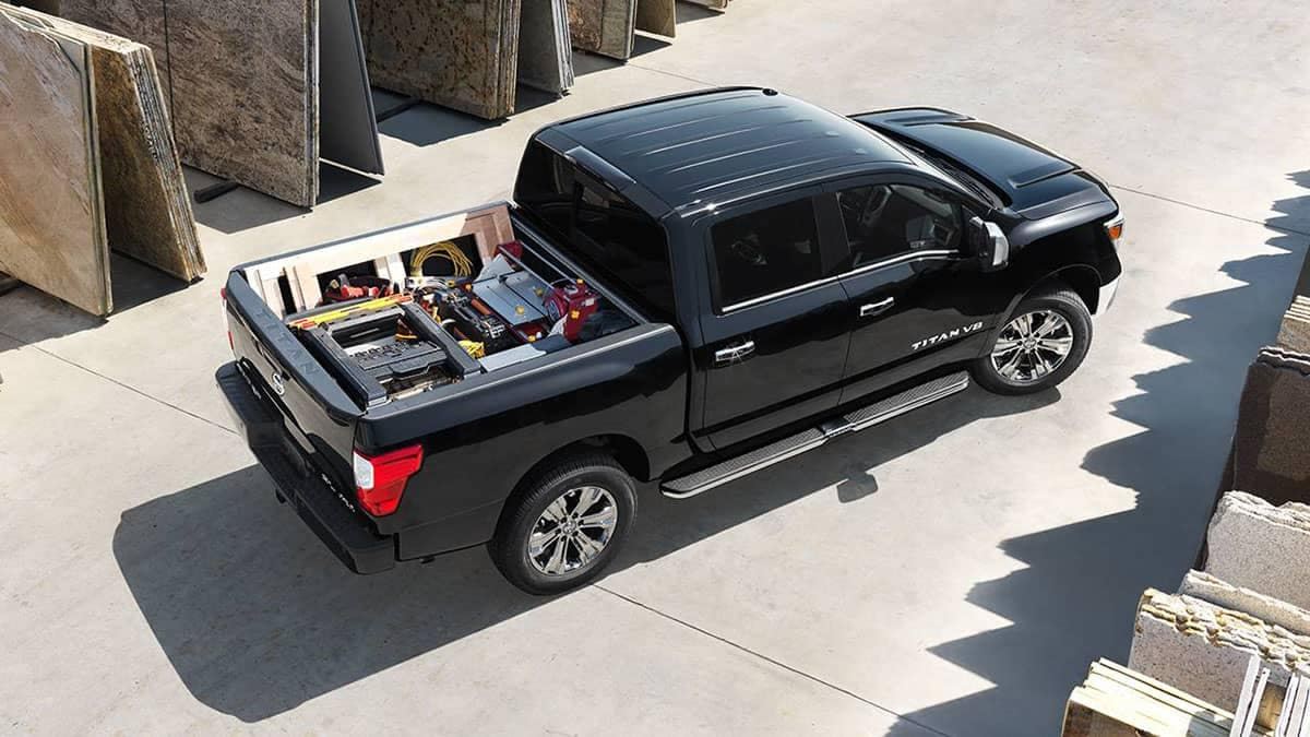 2018 Nissan Titan black bird's eye view