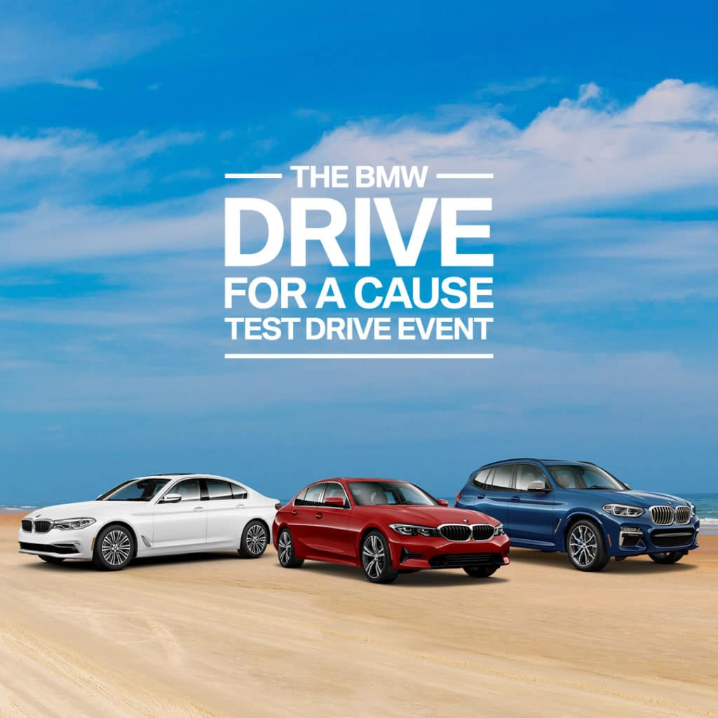 The BMW Drive for a Cause Test Drive Event