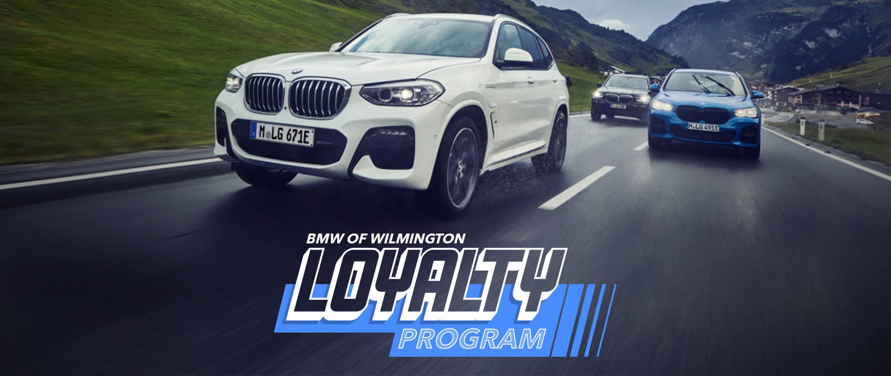 bmw wilmington loyalty upgradep rogram special banner