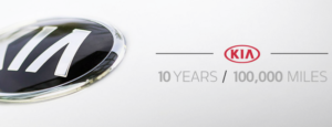 KIA Warranty. 10 Year. 100,000 Mile.